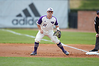 High Point Panthers first baseman Daniel Millwee (22) on defense against the Campbell Camels at Williard Stadium on March 16, 2019 in  Winston-Salem, North Carolina. The Camels defeated the Panthers 13-8. (Brian Westerholt/Four Seam Images)