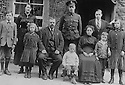 01/05/16<br /> <br /> ***COLLECT PHOTO -  BEST QUALITY AVAILABLE***<br /> <br /> Photo is around 1916, as Arthur (the son in uniform died in WWI New Year's Eve 1917).<br /> <br /> L/R: Ebenezer, Lily, Lotty, William Lennon, Arthur (stood at back in uniform and was killed in WWI), Sidney (in front), Grandma Charlotte, Percy, Arnold (my Grandad), Maggie.<br /> <br /> Eb, Sid and Grandad were all still working at the business only 30 years ago.<br /> <br /> Fuelled by a growing trend for vintage cycling, England's last remaining heavy duty boot-maker, tucked away in the heart of the Derbyshire Peak District, is pedalling a new style of footwear.<br /> <br /> Full story here: http://www.fstoppress.com/articles/vintage-cycle-shoes/<br /> <br />  .For hipster retro-cycling enthusiasts after the authentic vintage look, it's the only English manufacturer of leather shoes designed to work with old-fashioned bike pedal clips.<br /> <br /> For well over a century the family-run firm William Lennon and Co has been hand-making safety boots for the surrounding quarry and lead mining industries.<br /> <br /> And now it is applying the same high level of traditional skill and quality to old-style cycle shoes.<br /> <br /> Located in the small village of Stoney Middleton, the company produces more than 500 pairs of work boots a week and started to make the toe-clip cycle shoes around seven years ago, when the only other manufacturer in Leeds shut down.<br /> <br /> <br /> All Rights Reserved: F Stop Press Ltd. +44(0)1335 418365   www.fstoppress.com.