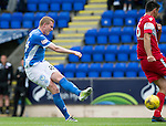 St Johnstone v Stirling Albion…30.07.16  McDiarmid Park. Betfred Cup<br />Brian Easton shoots wide<br />brian easton<br />Picture by Graeme Hart.<br />Copyright Perthshire Picture Agency<br />Tel: 01738 623350  Mobile: 07990 594431