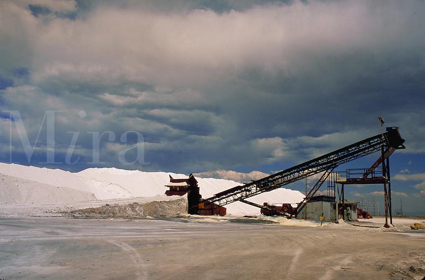 Mound of mined salt