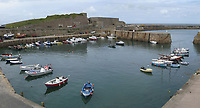 Pictured: General view of the Inner Harbour in Alderney<br />
