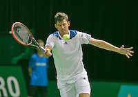 08-02-2014, Netherlands, Rotterdam, Ahoy, ABNAMROWTT,  Dominic Thiem (AUT)<br /> Photo:Tennisimages/Henk Koster