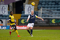 20th February 2021; Dens Park, Dundee, Scotland; Scottish Championship Football, Dundee FC versus Queen of the South; Nortei Nortey of Queen of the South and Charlie Adam of Dundee