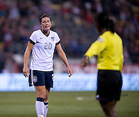 Abby Wambach. The USWNT tied New Zealand, 1-1, at an international friendly at Crew Stadium in Columbus, OH.