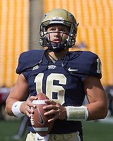 Pitt freshman quarterback Chad Voytik. The Pitt Panthers defeated the Gardner-Webb Runnin Bulldogs 55-10 at Heinz Field, Pittsburgh PA on September 22, 2012..
