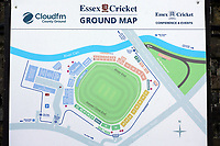General view of the ground map ahead of Essex CCC vs Worcestershire CCC, LV Insurance County Championship Group 1 Cricket at The Cloudfm County Ground on 9th April 2021