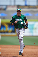 Daytona Tortugas center fielder Jonathan Reynoso (40) during a game against the Clearwater Threshers on April 20, 2016 at Bright House Field in Clearwater, Florida.  Clearwater defeated Daytona 4-2.  (Mike Janes/Four Seam Images)