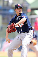 New Hampshire Fisher Cats relief pitcher Clint Everts #21 delivers a pitch during a game against the Reading Phillies at FirstEnergy Stadium on May 5, 2011 in Reading, Pennsylvania.  New Hampshire defeated Reading by the score of 10-5.  Photo By Mike Janes/Four Seam Images