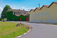 The Chateau Haut Maco and winery  Cotes de Bourg  Bordeaux Gironde Aquitaine France