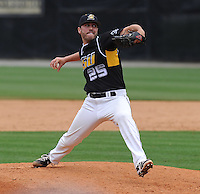 Pitcher David Port (25) of the Appalachian State Mountaineers in a game against the Wofford College Terriers on April 28, 2012, at Russell C. King Field in Spartanburg, South Carolina. (Tom Priddy/Four Seam Images)