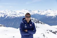 CRANS-MONTANA, SWITZERLAND - MAY 28: Nico Estevez of the United States at Pointe de la Plaine Morte on May 28, 2021 in Crans-Montana, Switzerland.