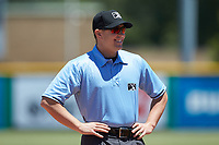 Appalachian League umpire Adam Pierce prior to the game between the Greeneville Reds and the Burlington Royals at Burlington Athletic Stadium on July 8, 2018 in Burlington, North Carolina. The Royals defeated the Reds 4-2.  (Brian Westerholt/Four Seam Images)