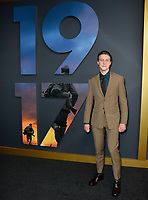 "LOS ANGELES, USA. December 19, 2019: George MacKay at the premiere of ""1917"" at the TCL Chinese Theatre.<br /> Picture: Paul Smith/Featureflash"