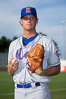 Kingsport Mets pitcher Joe Napolitano (38) poses for a photo prior to the game against the Burlington Royals at Burlington Athletic Stadium on July 18, 2016 in Burlington, North Carolina.  The Royals defeated the Mets 8-2.  (Brian Westerholt/Four Seam Images)