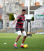 18th March 2021;  Cormac Izuchukwu during Ulster Rugby Captain's Run held at Kingspan Stadium, Ravenhill Park, Belfast, Northern Ireland. Photo by John Dickson/Dicksondigital