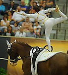 8 October 2010: Anna Cavallaro (ITA) performs during the Vaulting Techincals in the World Equestrian Games in Lexington, Kentucky