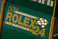 "Rolex 24 ""Countdown Clock"" along pit road."