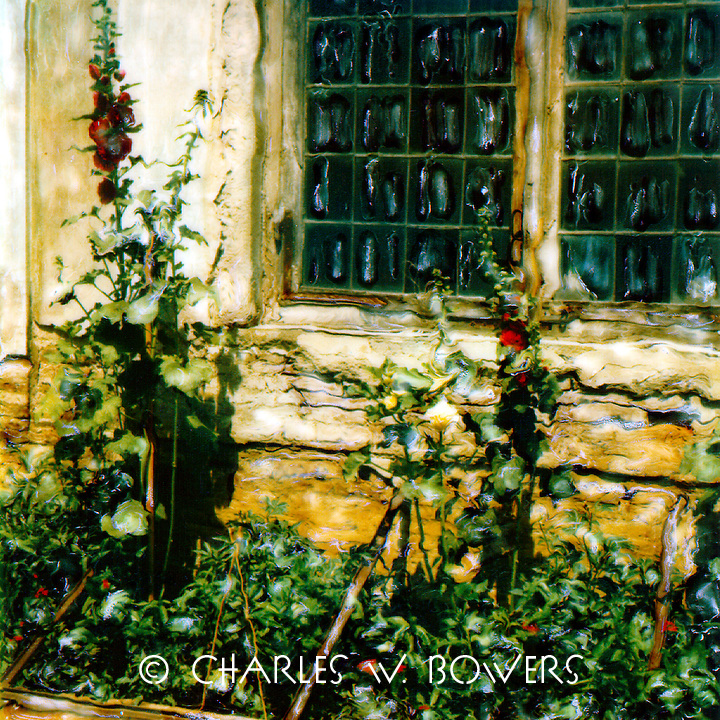 Hollyhocks from windows at the Boboli Gardens.<br /> <br /> -Limited Edition of 50 Prints