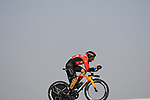 Damiano Caruso (ITA) Bahrain Victorious during Stage 2 of the 2021 UAE Tour an individual time trial running 13km around Al Hudayriyat Island, Abu Dhabi, UAE. 22nd February 2021.  <br /> Picture: Eoin Clarke | Cyclefile<br /> <br /> All photos usage must carry mandatory copyright credit (© Cyclefile | Eoin Clarke)