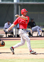Andrew Romine / Los Angeles Angels 2008 Instructional League..Photo by:  Bill Mitchell/Four Seam Images