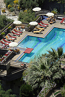 Hotel-Pool in Taormina, Sizilien, Italien