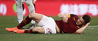 Calcio, Serie A: Roma vs Inter. Roma, stadio Olimpico, 19 marzo 2016.<br /> Roma's Stephan El Shaarawy lies on the pitch during the Italian Serie A football match between Roma and FC Inter at Rome's Olympic stadium, 19 March 2016. The game ended 1-1.<br /> UPDATE IMAGES PRESS/Isabella Bonotto