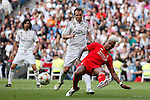Liverpool´s Abel Xavier during 2015 Corazon Classic Match between Real Madrid Leyendas and Liverpool Legends at Santiago Bernabeu stadium in Madrid, Spain. June 14, 2015. (ALTERPHOTOS/Victor Blanco)