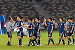 Japan squad celebrates winning after the AFC Asian Cup UAE 2019 Group F match between Oman (OMA) and Japan (JPN) at Zayed Sports City Stadium on 13 January 2019 in Abu Dhabi, United Arab Emirates. Photo by Marcio Rodrigo Machado / Power Sport Images