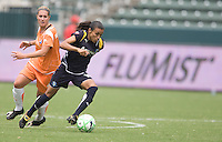 LA Sol's Marta carries the ball during a Sky Blue FC 1-0 victory over the LA Sol to win the WPS Championship match at the Home Depot Center, Saturday, August 22, 2009.