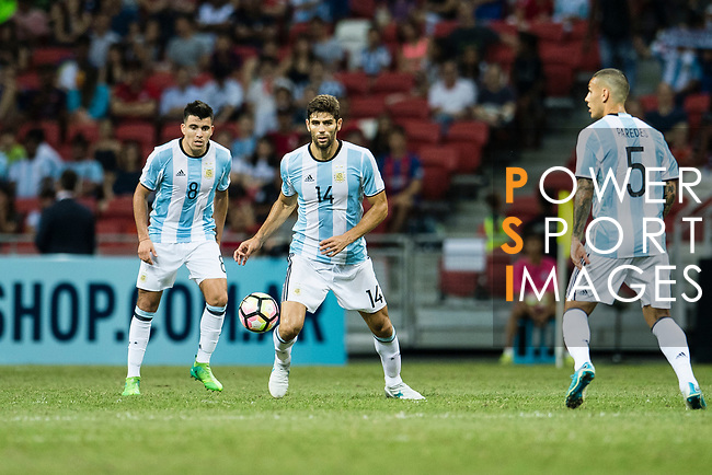 Federico Fazio of Argentina (C) during the International Test match between Argentina and Singapore at National Stadium on June 13, 2017 in Singapore. Photo by Marcio Rodrigo Machado / Power Sport Images