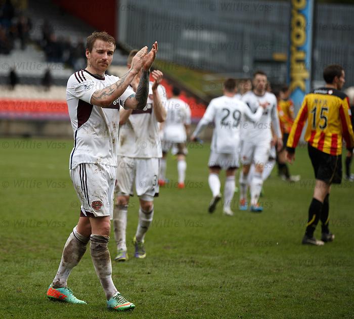 Dejection as Hearts are relegated - goalscorer Ryan Stevenson