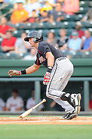 Catcher Mike Marjama (12) of the Kannapolis Intimidators in a game against the Greenville Drive on Monday, August 5, 2013, at Fluor Field at the West End in Greenville, South Carolina. Kannapolis won, 3-0. (Tom Priddy/Four Seam Images)