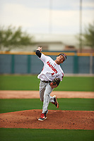 Carlos Soto (4) of Gateway High School in Kissimmee, Florida during the Under Armour All-American Pre-Season Tournament presented by Baseball Factory on January 14, 2017 at Sloan Park in Mesa, Arizona.  (Zac Lucy/MJP/Four Seam Images)