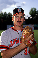 Harrisburg Senators pitcher Gabe White prior to a game versus the New Britain Red Sox at Beehive Field in New Britain, Connecticut during the 1993 season. (Ken Babbitt/Four Seam Images)