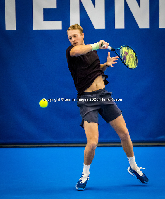 Amstelveen, Netherlands, 18  December, 2020, National Tennis Center, NTC, NK Indoor, National  Indoor Tennis Championships,   :  Jelle Sels (NED) <br /> Photo: Henk Koster/tennisimages.com