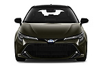 Car photography straight front view of a 2019 Toyota Corolla Style 5 Door Hatchback