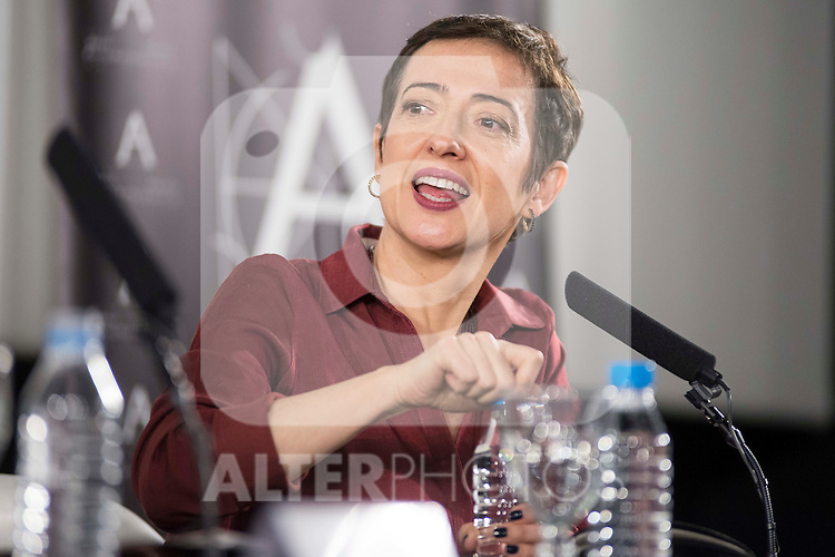 Pepa Blanes during discussion with british director Ken Loach at Spanish Film Academy in Madrid, Spain. February 03, 2017. (ALTERPHOTOS/BorjaB.Hojas)