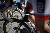 climbing up the Lacets du Grand Colombier (Cat1/891m/8.4km/7.6%)<br /> <br /> stage 15: Bourg-en-Bresse to Culoz (160km)<br /> 103rd Tour de France 2016