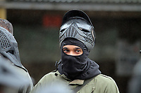 Pictured: Ashley Williams. Tuesday 25 January 2011<br /> Re: Swansea City FC footballers and staff have spend a morning at Teamforce Paintball in Llangyfelach near Swansea south Wales.