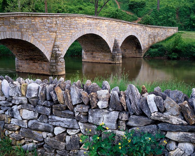 Historic Burnside Bridge over Antietam Creek; Antietam National Battlefield, MD