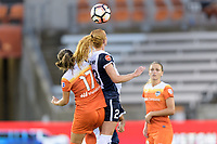 Houston, TX - Saturday July 15, 2017: Andressa Cavalari Machry and Tori Huster during a regular season National Women's Soccer League (NWSL) match between the Houston Dash and the Washington Spirit at BBVA Compass Stadium.