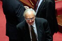 L'architetto Renzo Piano <br /> Roma 04/09/2013 Prima seduta in Aula per i Senatori a vita appena nominati<br /> First session for the new appointed Senators for life. <br /> Photo Samantha Zucchi Insidefoto