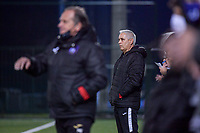 Aalst's head coach Dirk Decoen pictured during a female soccer game between RSC Anderlecht Dames and Eendracht Aalst Ladies  on the fourth matchday of the 2020 - 2021 season of Belgian Womens Super League , Tuesday 13 th of October 2020  in ANDERLECHT , Belgium . PHOTO SPORTPIX.BE | SPP | STIJN AUDOOREN