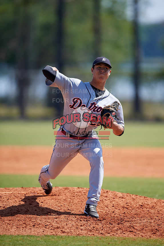 Detroit Tigers pitcher Carlos Guzman (29) during a Minor League Spring Training intrasquad game on March 24, 2018 at the TigerTown Complex in Lakeland, Florida.  (Mike Janes/Four Seam Images)