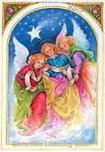 Interlitho-Emilia, HOLY FAMILIES, HEILIGE FAMILIE, SAGRADA FAMÍLIA, paintings+++++,3 angels,KL5467,#xr#