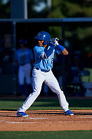 AZL Royals Herard Gonzalez (2) at bat during an Arizona League game against the AZL Brewers Blue at Surprise Stadium on June 18, 2019 in Surprise, Arizona. AZL Royals defeated AZL Brewers Blue 12-7. (Zachary Lucy/Four Seam Images)