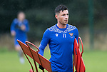 St Johnstone Training……26.08.20<br />Michael O'Halloran pictured during training at McDiarmid Park ahead of Saturday's game against St Mirren.<br />Picture by Graeme Hart.<br />Copyright Perthshire Picture Agency<br />Tel: 01738 623350  Mobile: 07990 594431