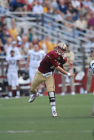 Boston College Eagles quarterback Chase Rettig (#11) during a game versus the Wake Forest Demon Deacons at Alumni Stadium in Chestnut Hill, Massachusetts on October 1, 2011.Wake Forest would defeat the Eagles 27-19.Photo By Ken Babbitt/Four Seam Images