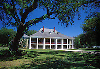 The exterior of the Destrahan Plantation and grounds. Destrahan, Louisiana.