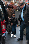 Cristiano Ronaldo Jr and Maria Dolores dos Santos attend Jorge Mendes´s book presentation in Madrid, Spain. January 22, 2015. (ALTERPHOTOS/Victor Blanco)